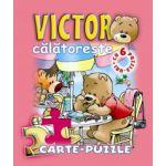 Victor călătoreşte. Carte - puzzle