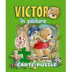 Victor în pădure. Carte - puzzle.