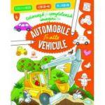 Colorează și completează imagini cu automobile și alte vehicule