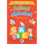 Animal alphabet. English for kids. Carte de colorat