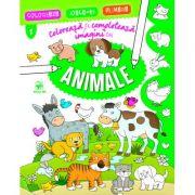 Colorează și completează imagini cu animale