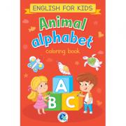 Animal alphabet. English for kids. Carte de colorat